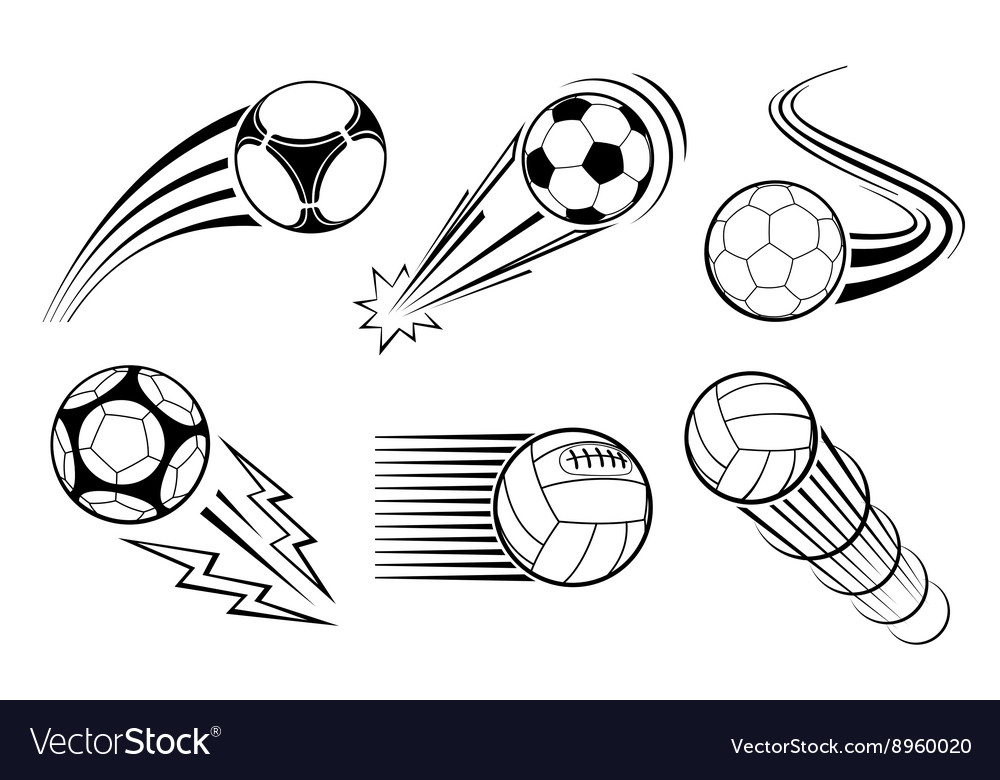 Soccer and football balls for labels emblems vector