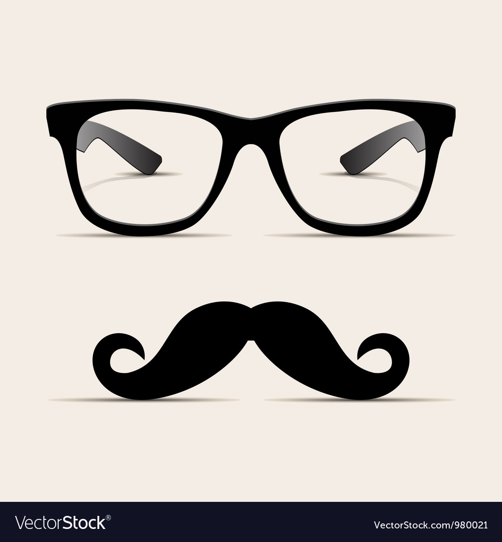 Hipster glasses hipsta man vector