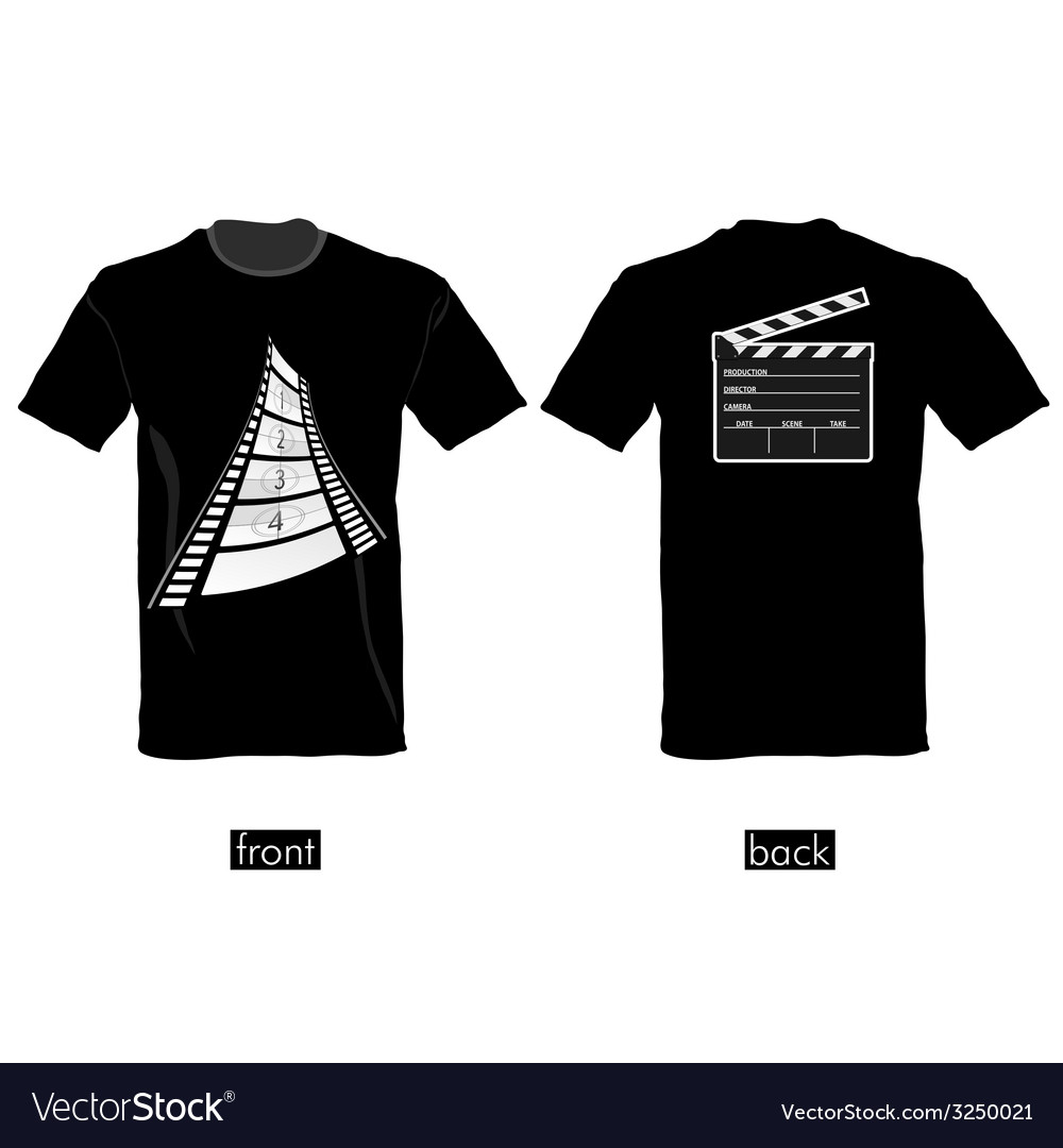 Tshirt with film tape vector