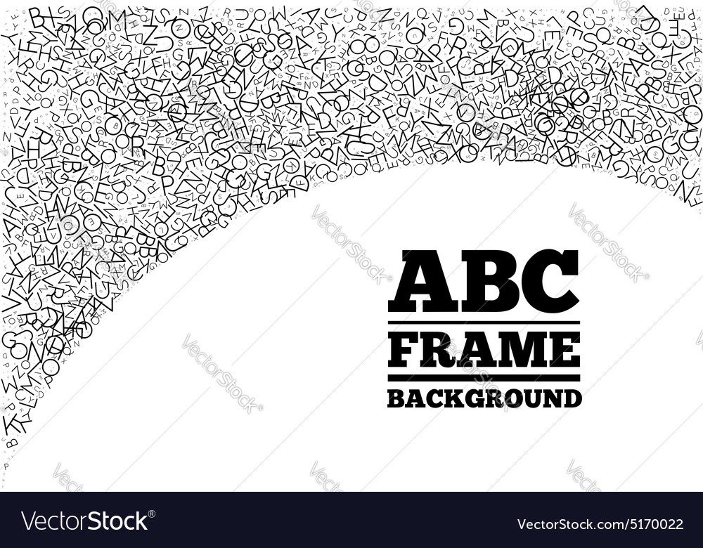 Frame created from the letters of different sizes vector
