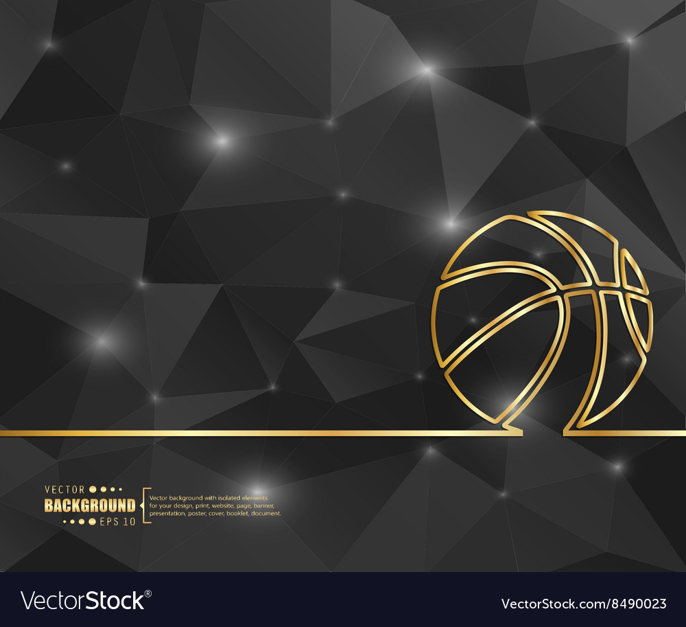 Creative basketball art vector