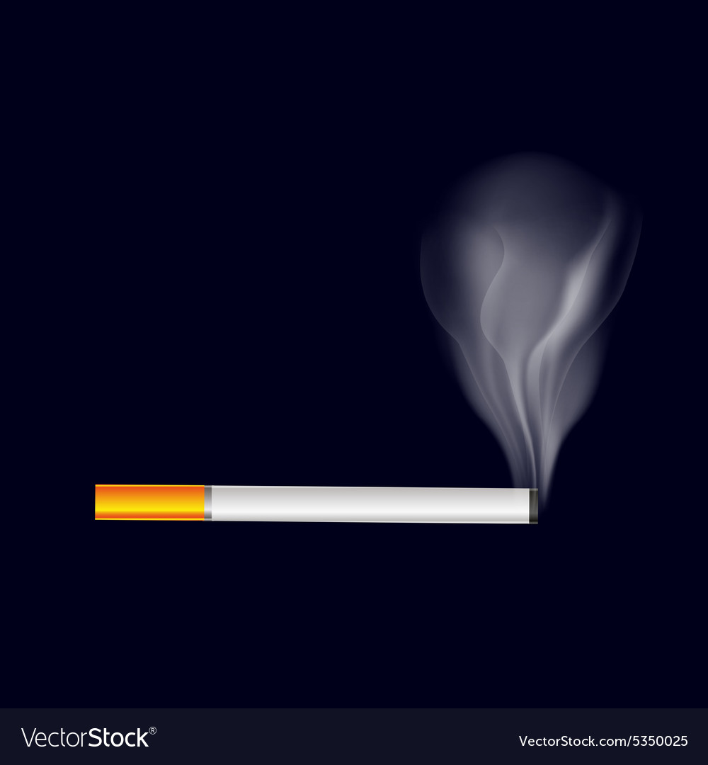 Single isolated smoking cigarette symbol eps10 vector