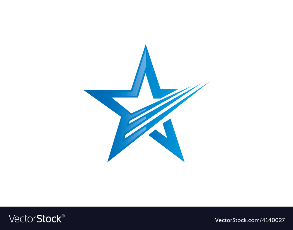 Star loop abstract logo vector