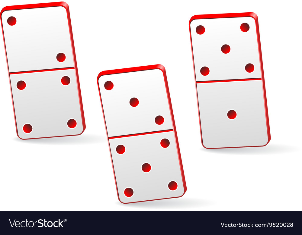 Icon game three dominoes vector