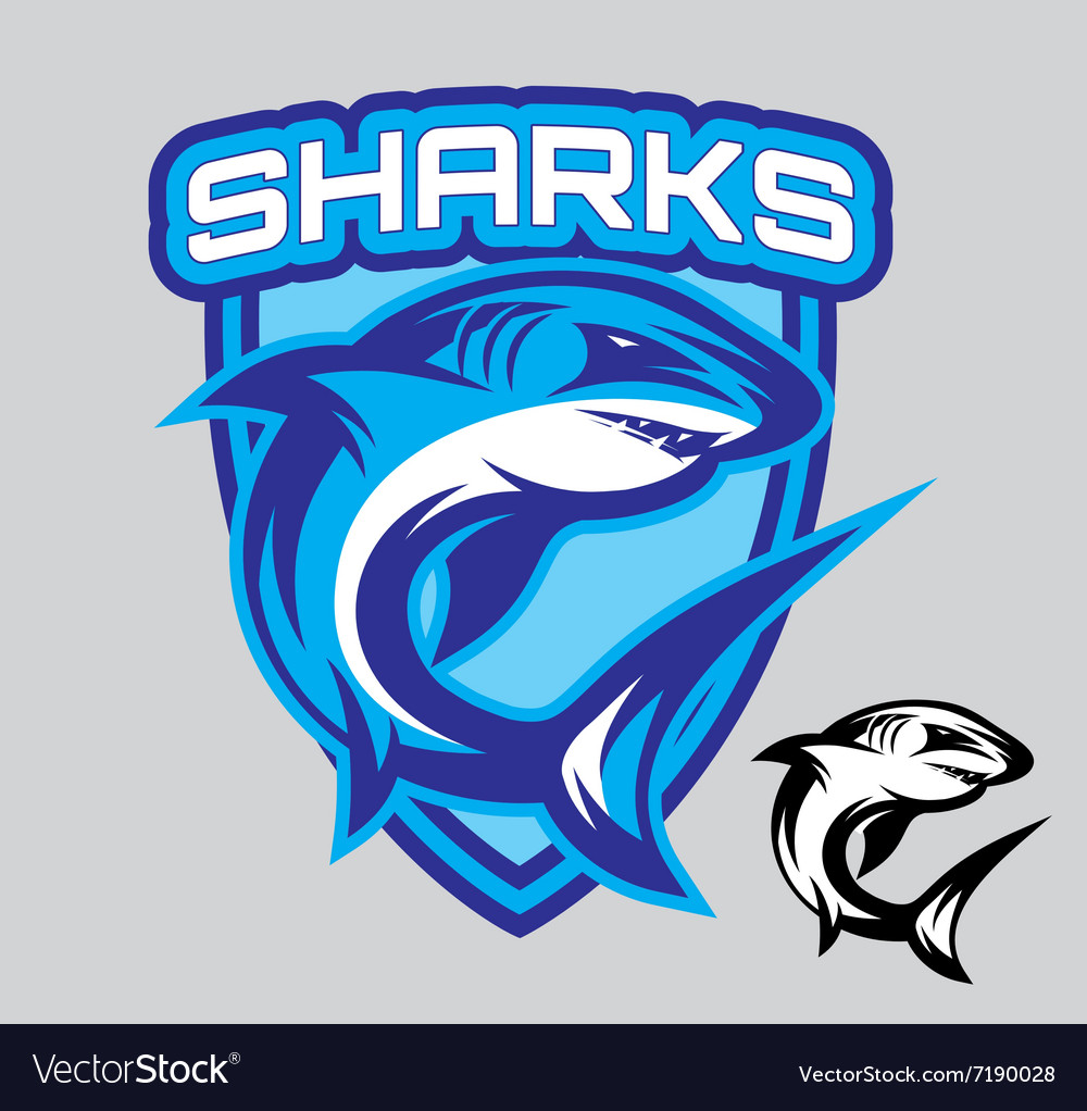 Stylish emblems for sports teams with a vector