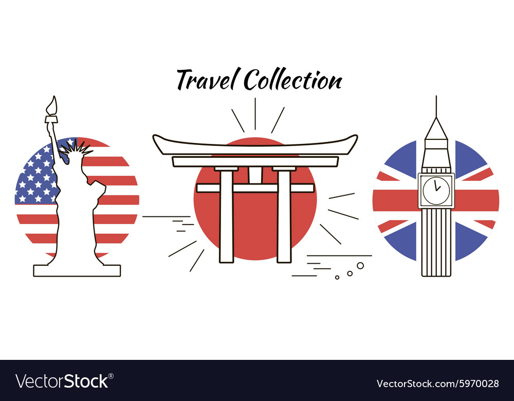 Travel collection vector