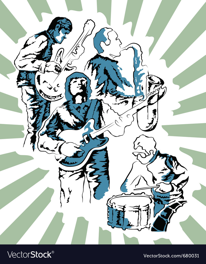 Rock band poster vector