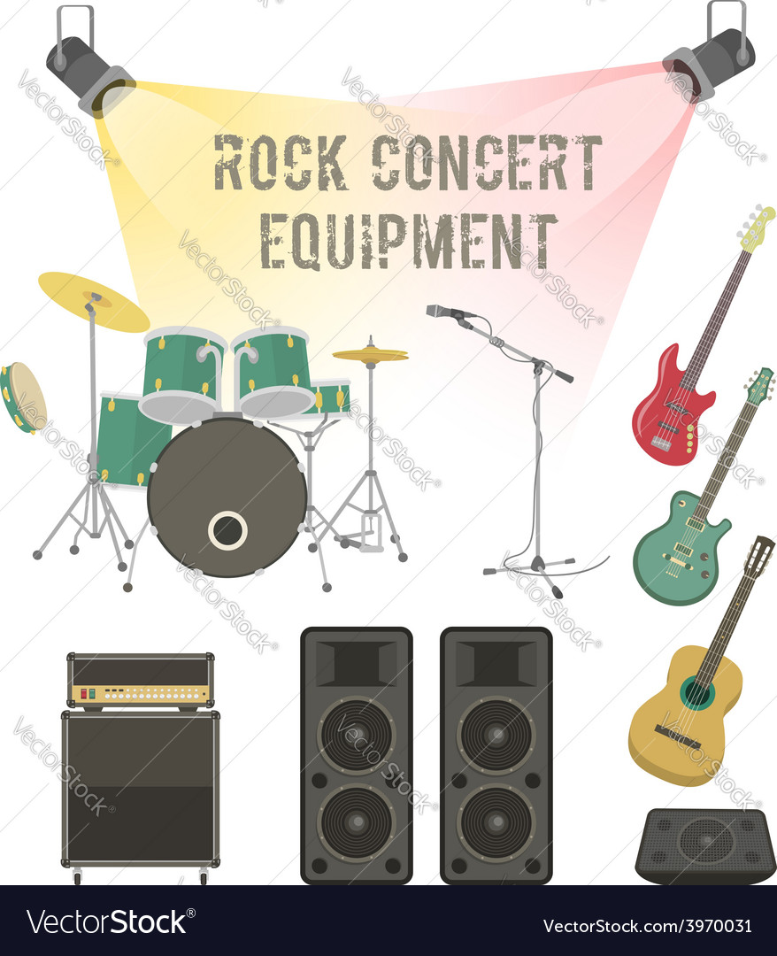 Rock concert equipment vector