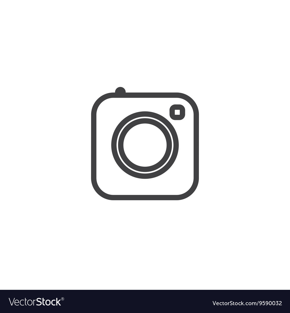 Social media icon photo camera instagram icons vector