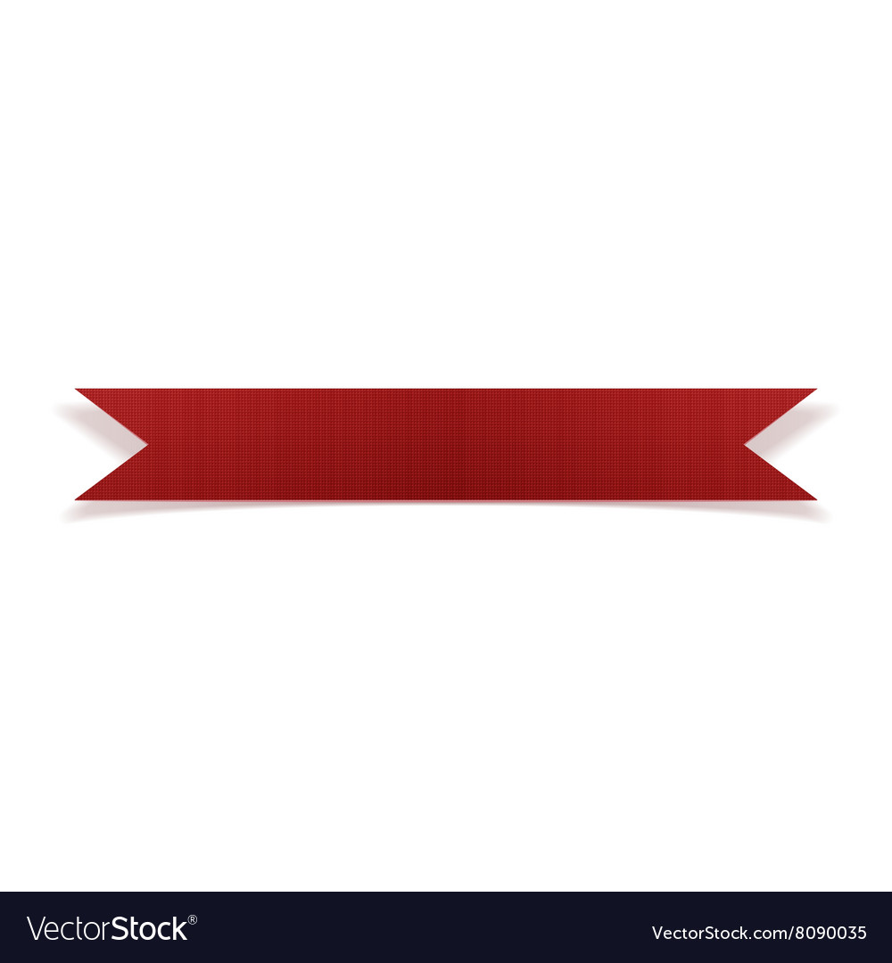 Greeting red thin paper ribbon vector