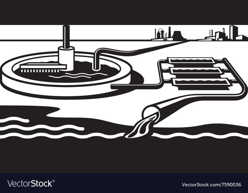 Water treatment plant vector