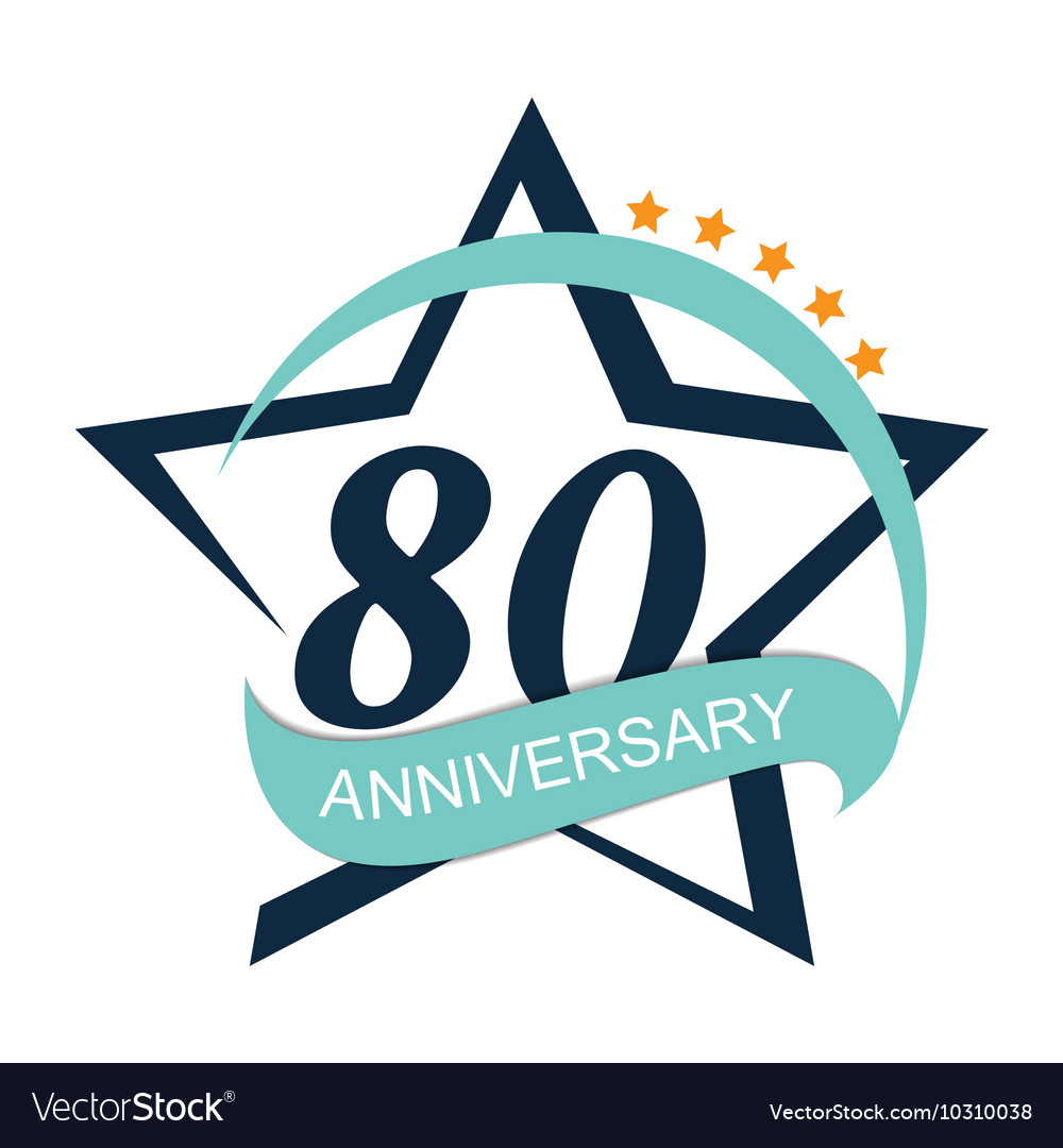 Template logo 80 anniversary vector