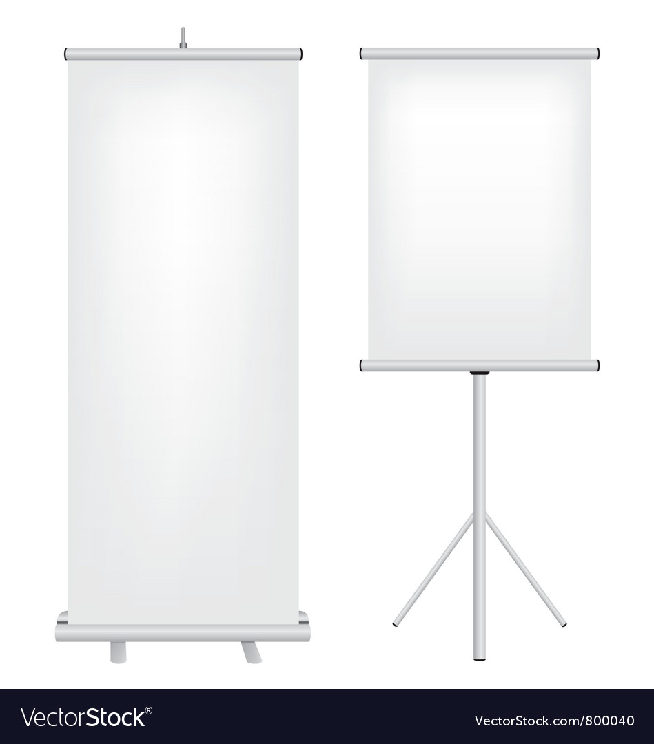 Roll up stand vector