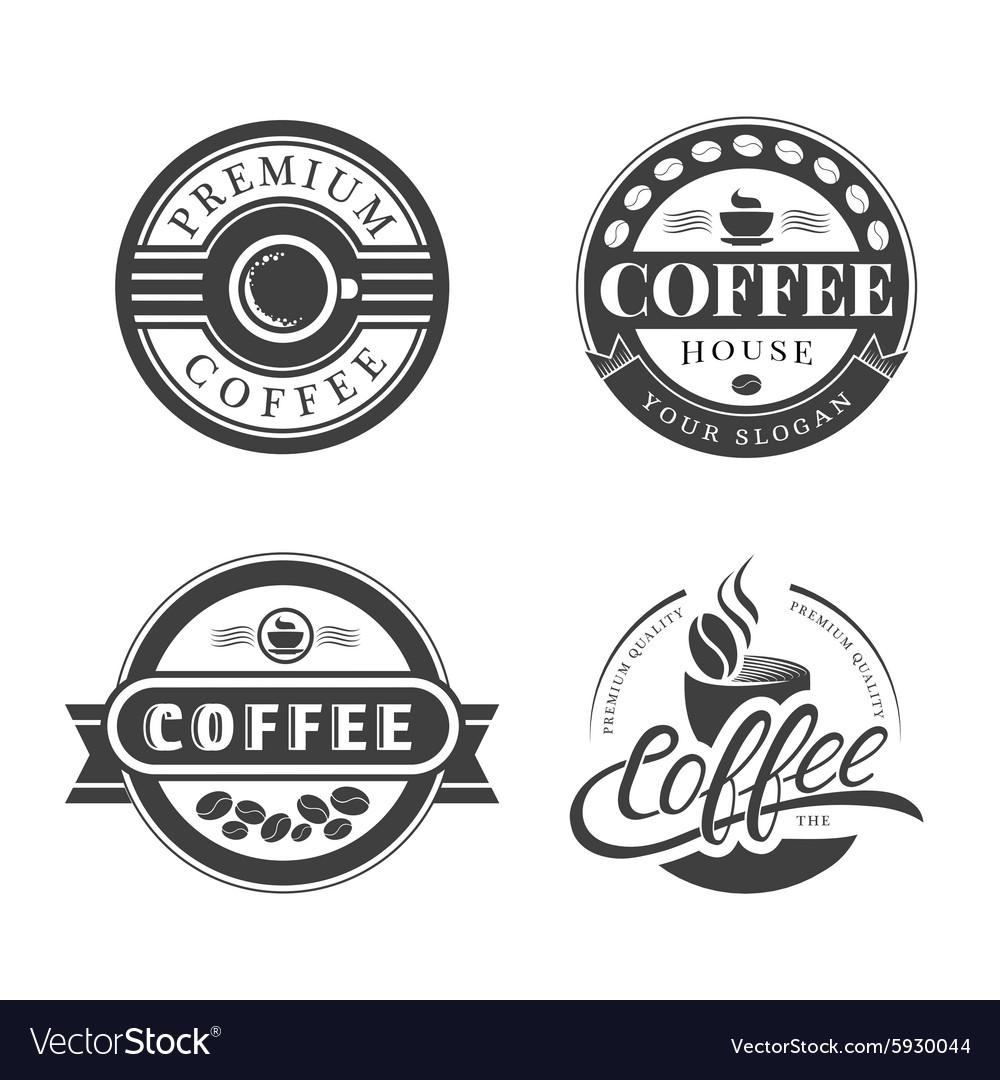 Coffee vintage logo vector