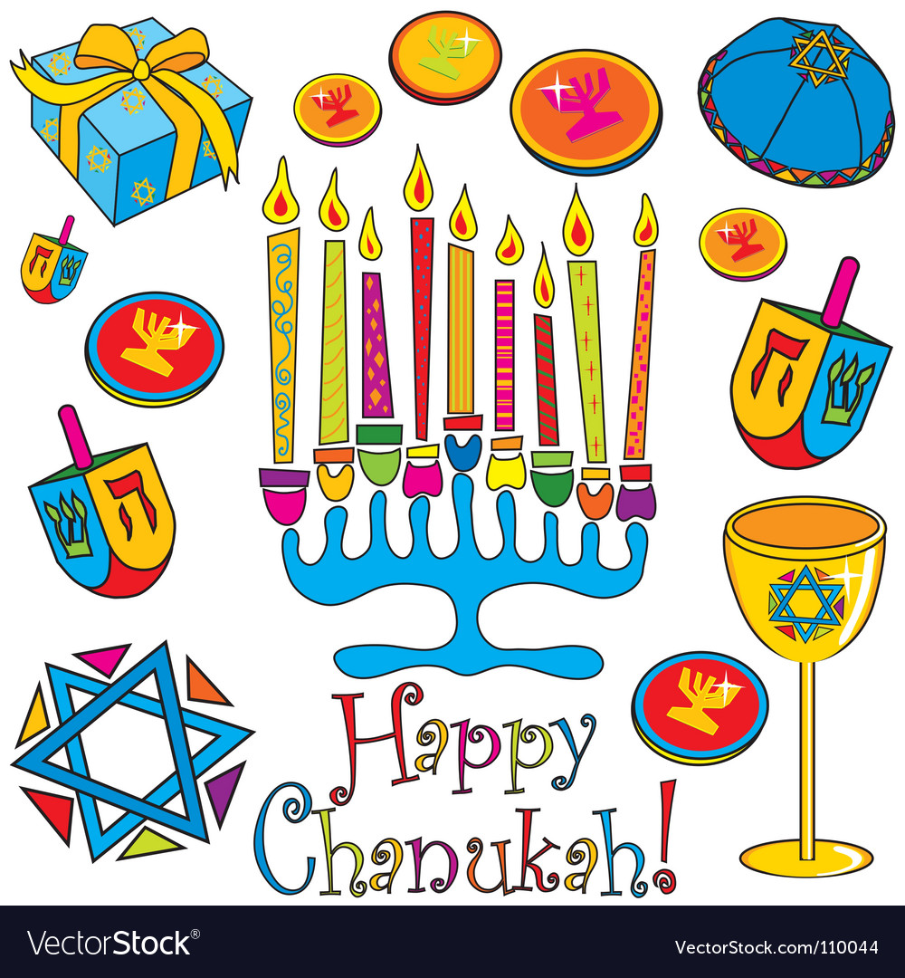 Happy chanukah vector