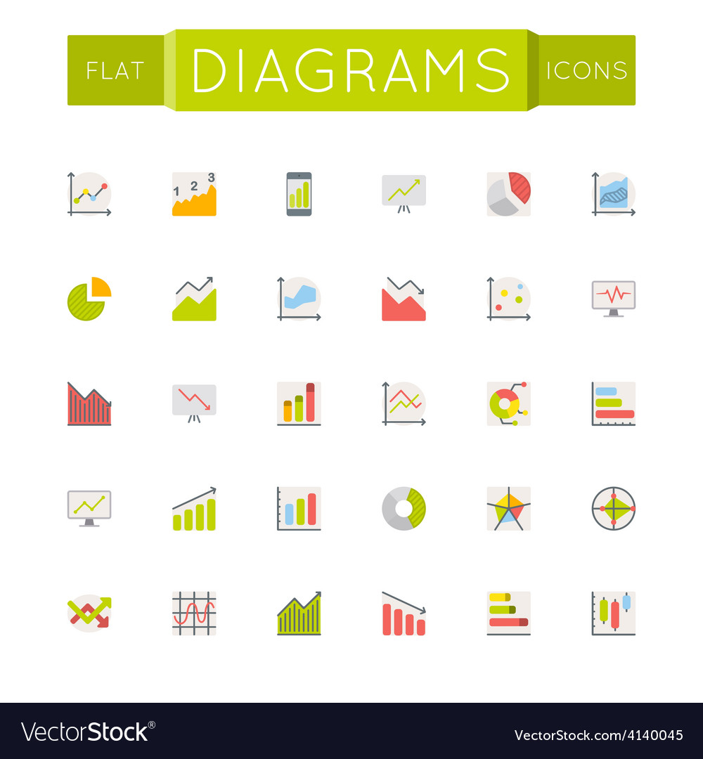 Flat hr icons vector