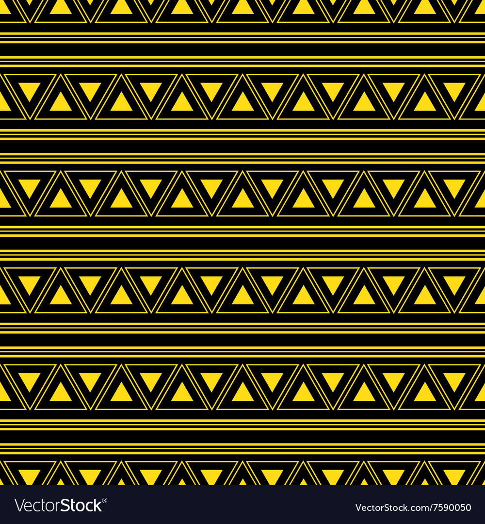 Triangle aztec yellow neon background vector