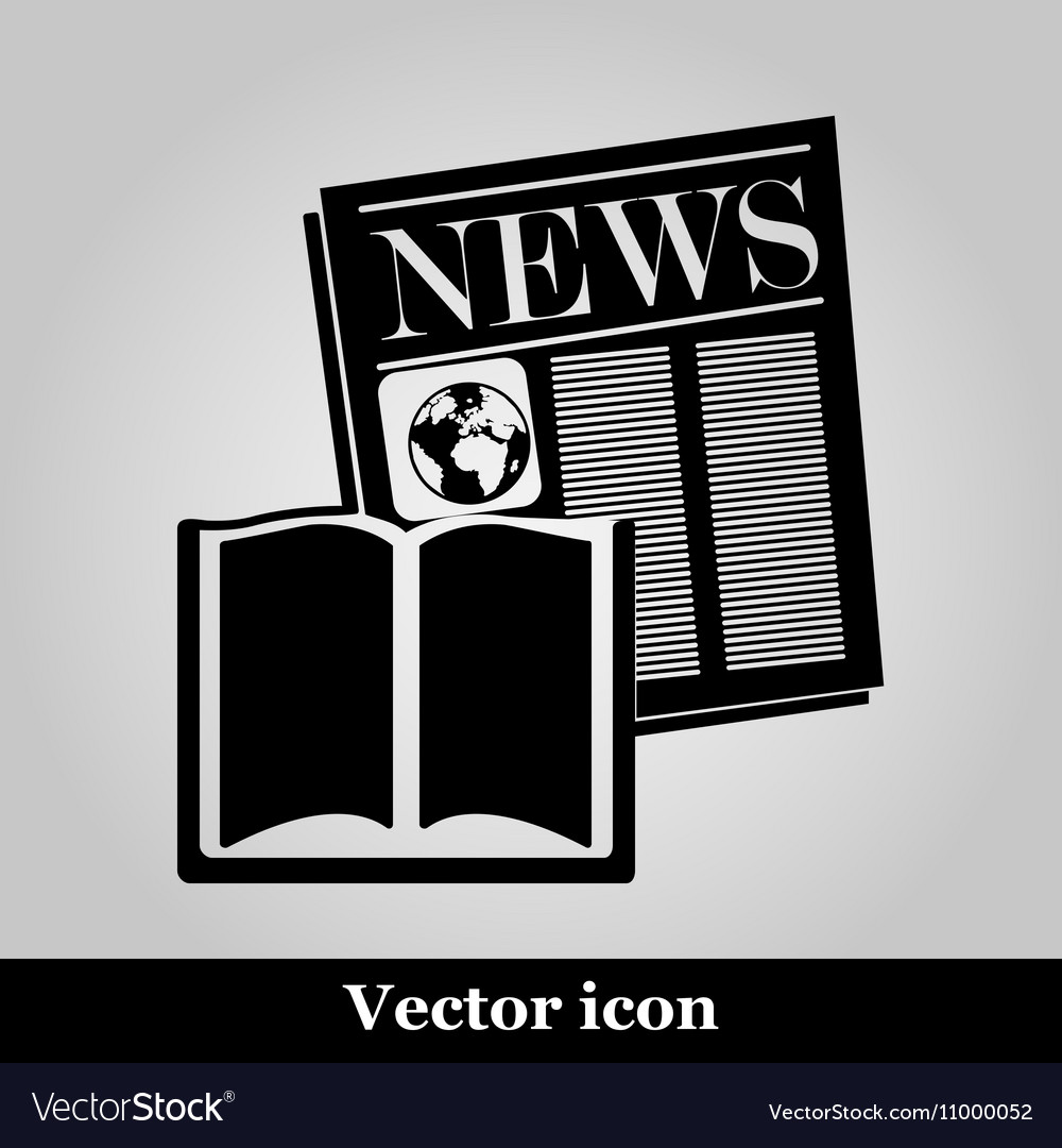 Book and newspaper isolated on background vector