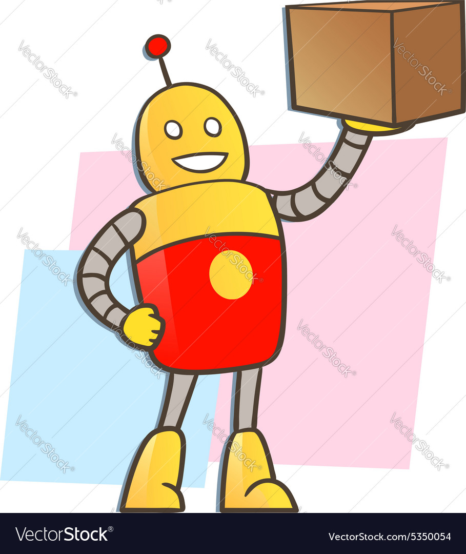 Robot courier vector
