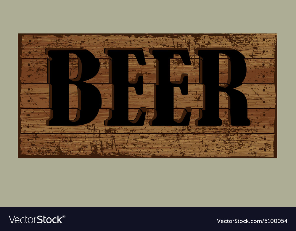 Template label beer made from old boards vector