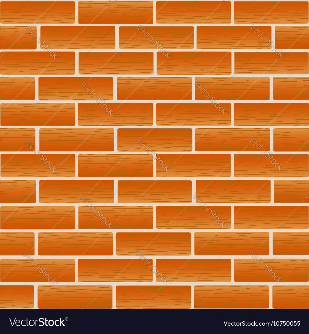 Brickwork of ordinary red bricks vector