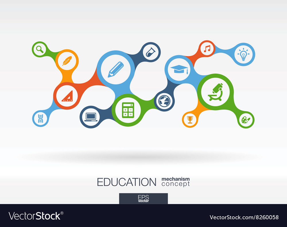 Education growth abstract background with vector