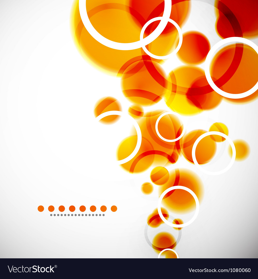Abstract shapes background orange bubbles vector