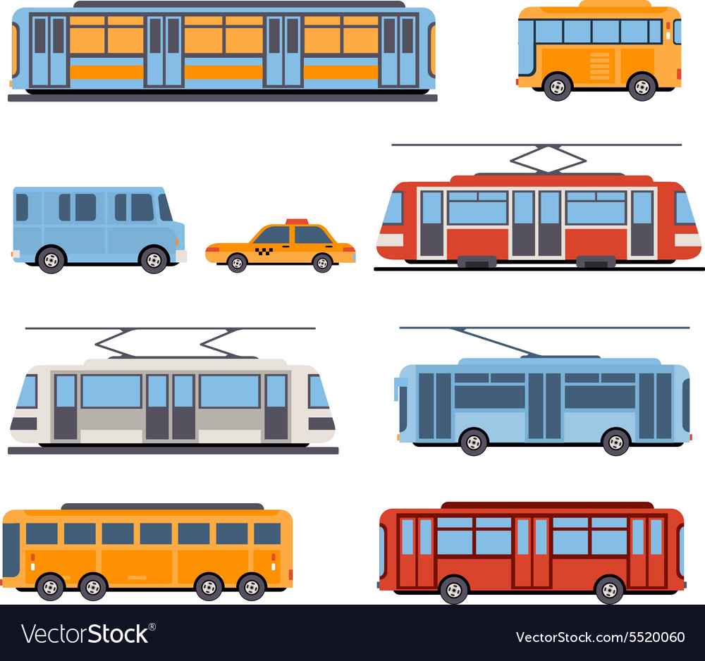 City and intercity transportation vector