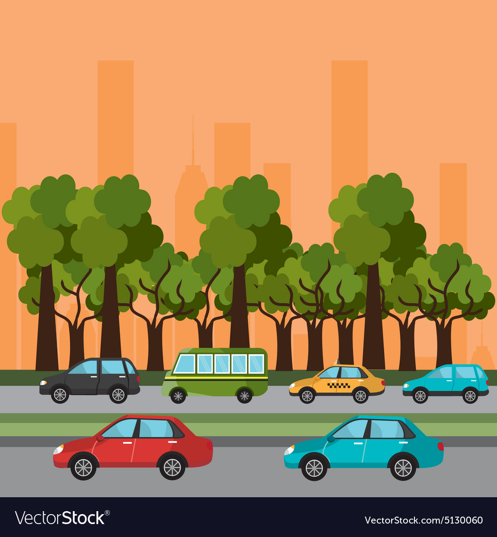 City transport design vector