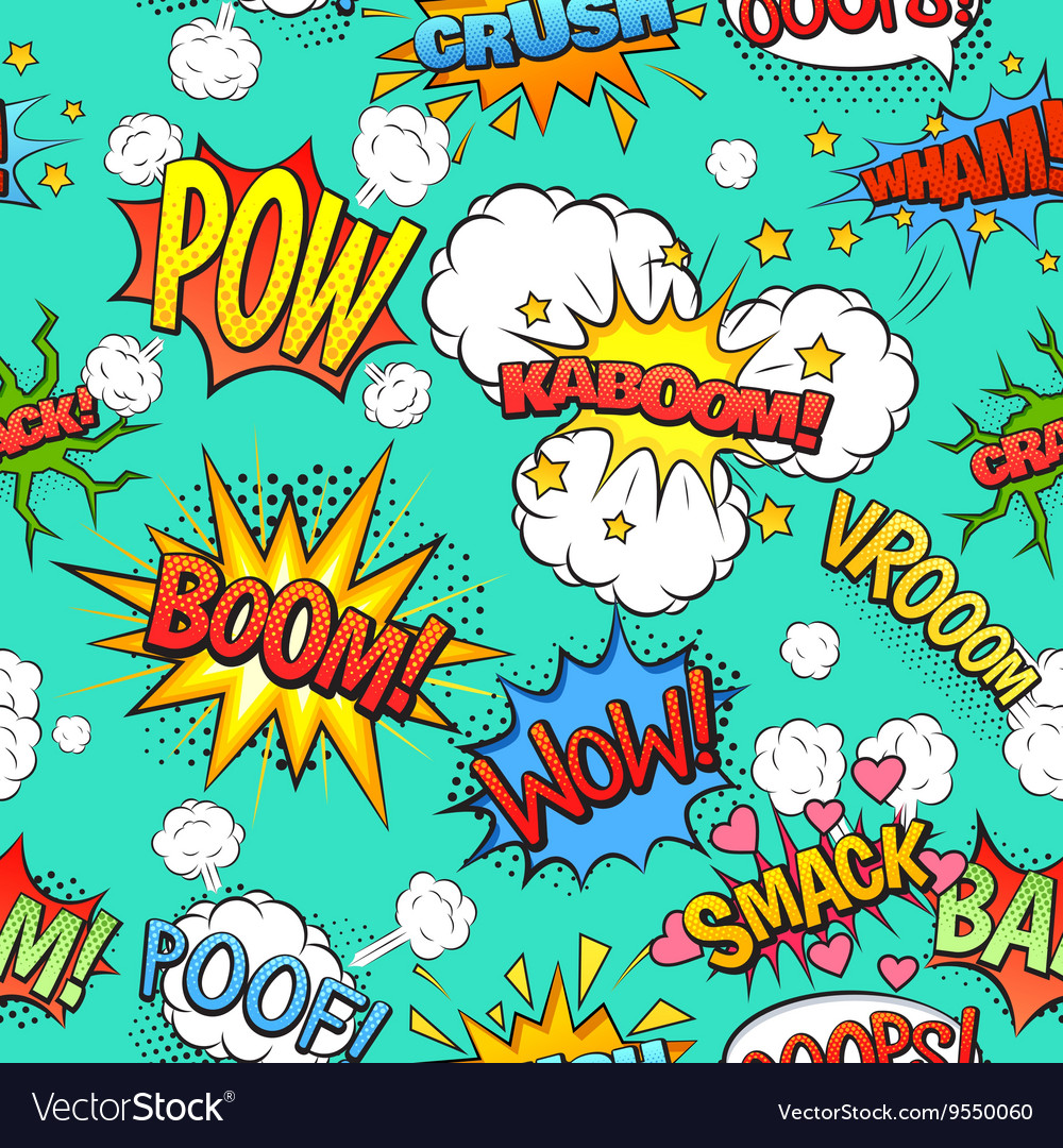 Comic speech bubbles seamless pattern background vector