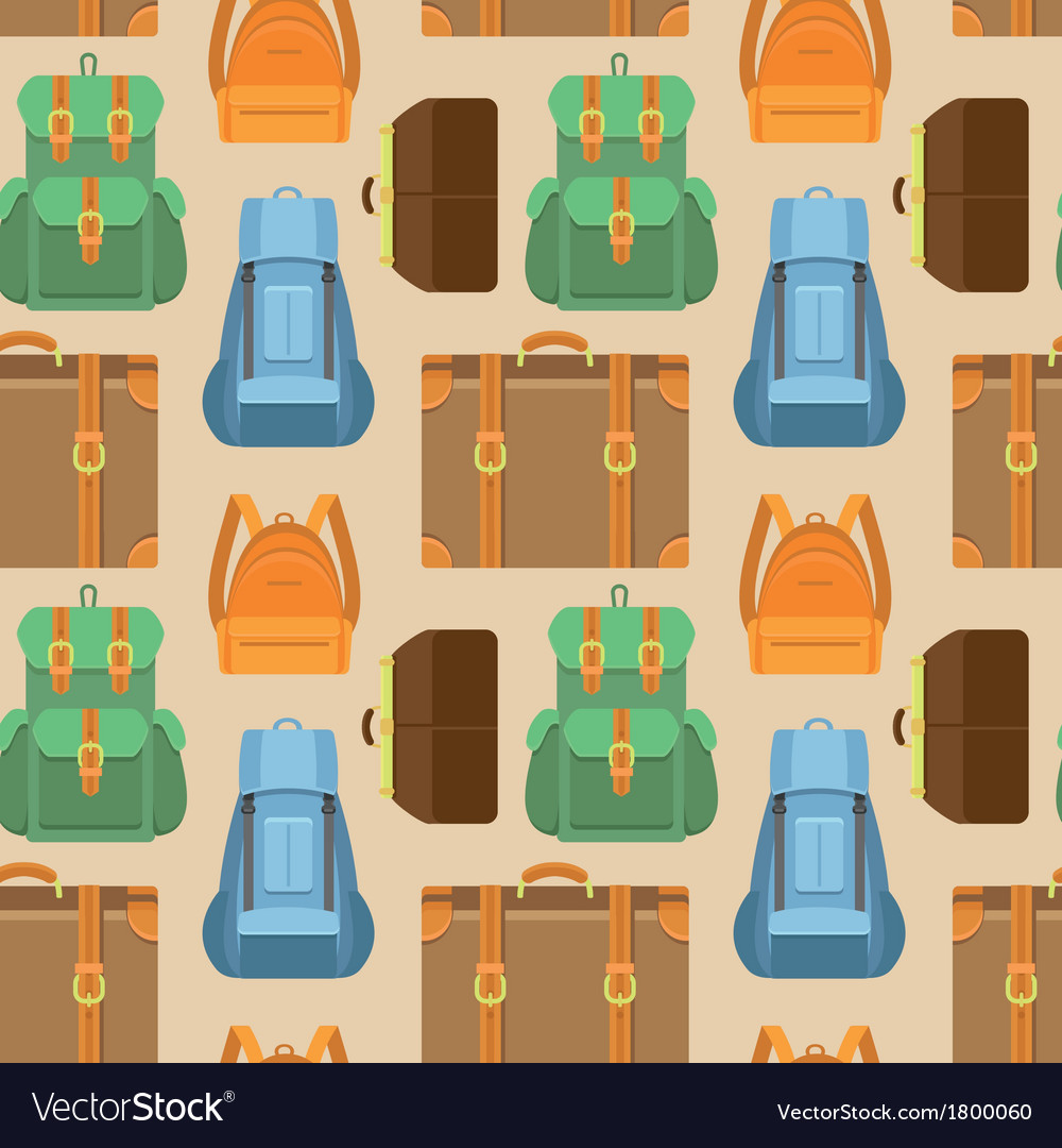 Seamless pattern in flat style  travel vector