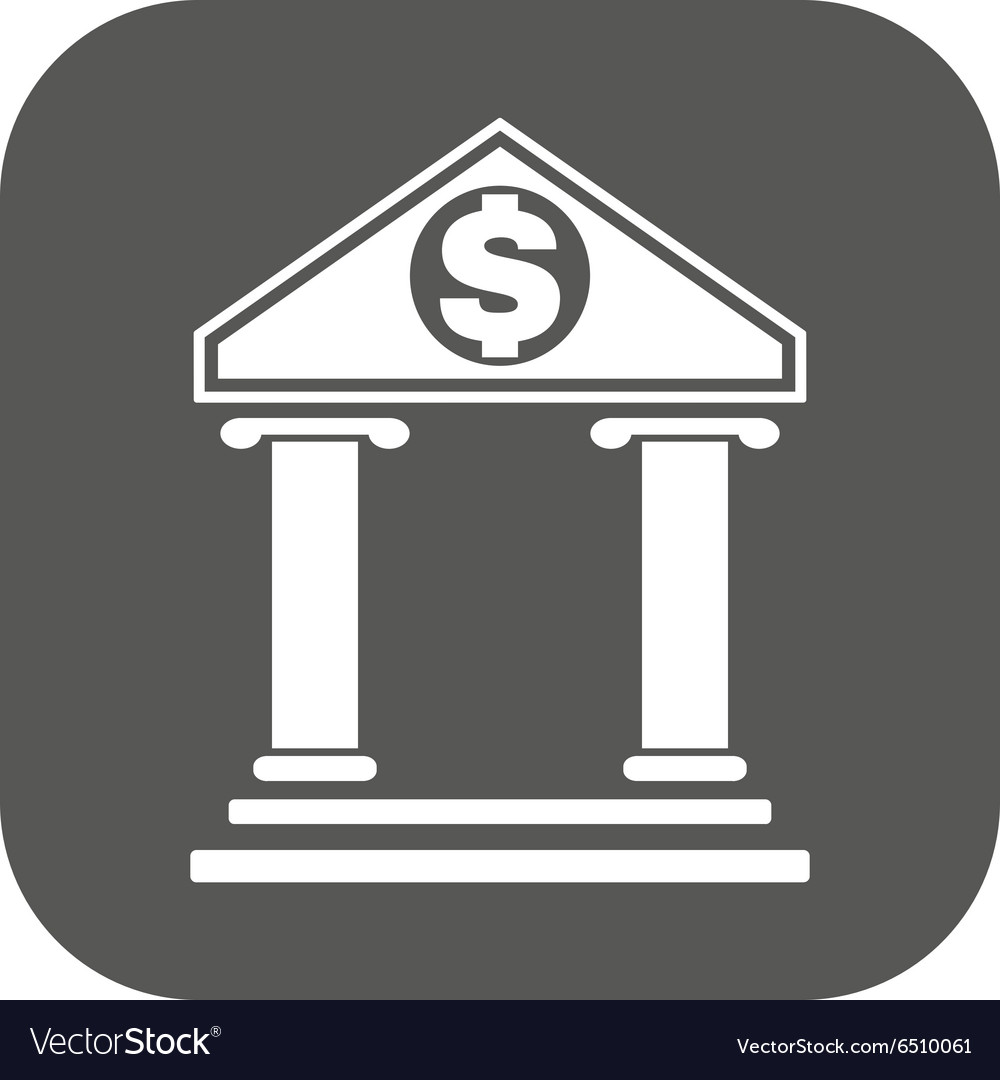 Bank icon banking and finance symbol flat vector