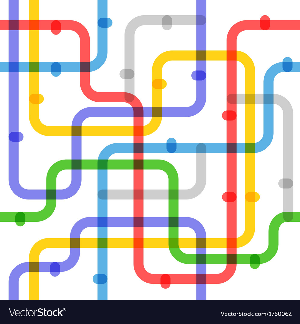 Abstract color metro scheme vector