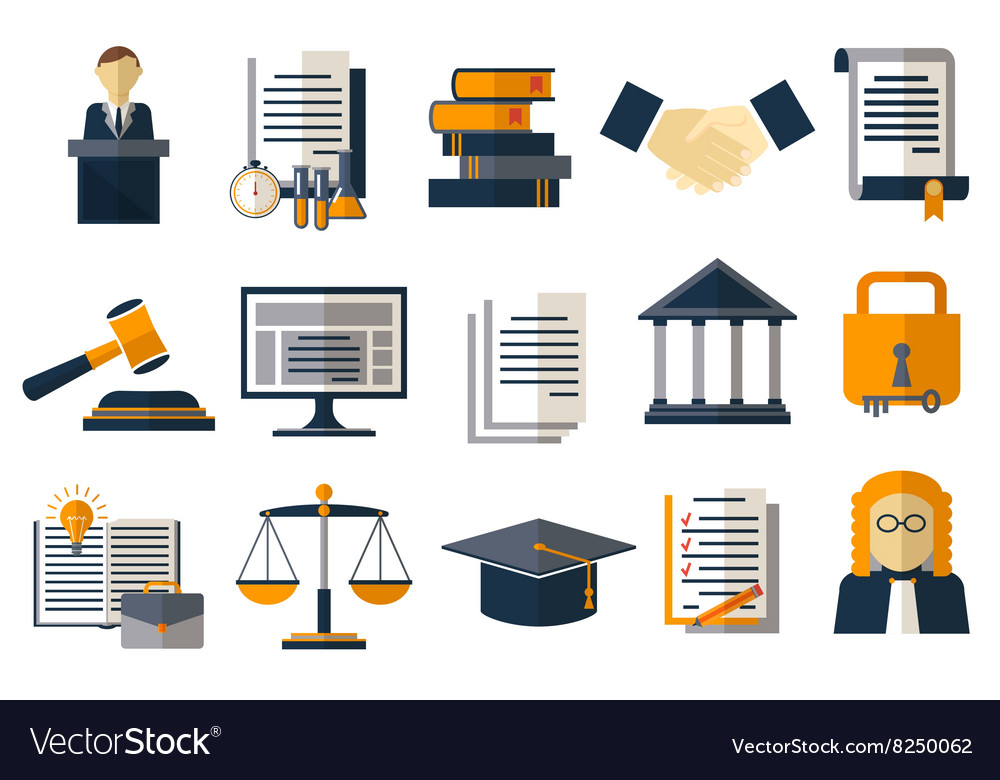 Legal compliance deal protection and copyright vector