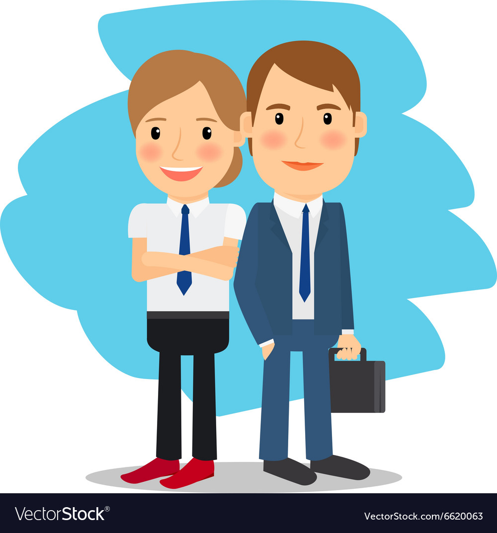 Business partners man and woman vector