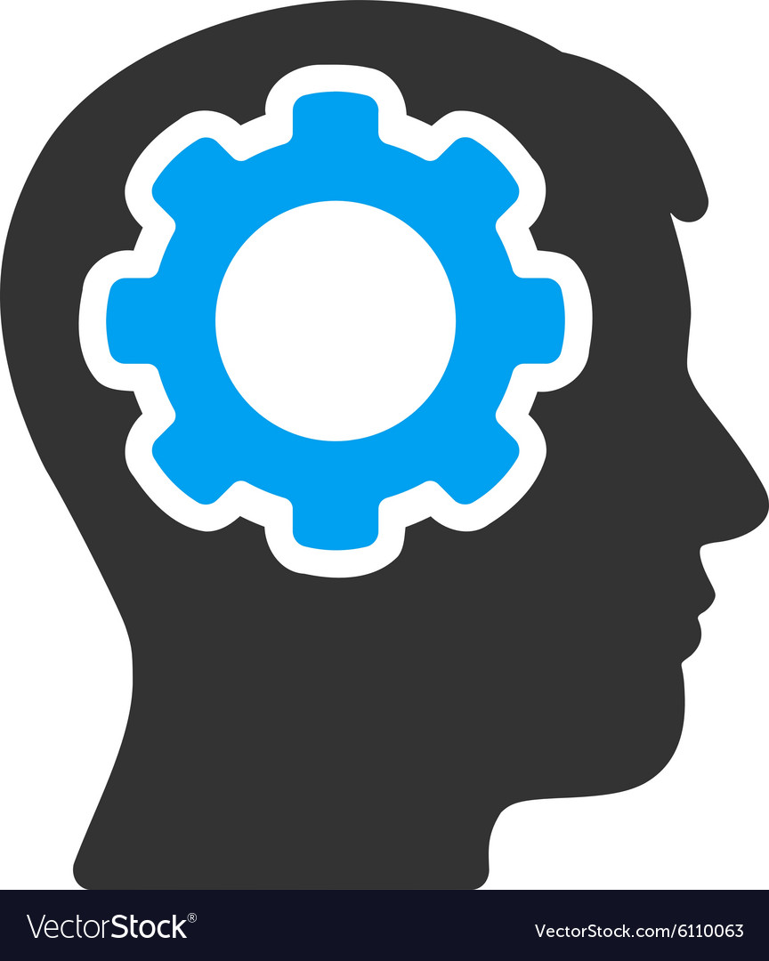 Human mind icon vector