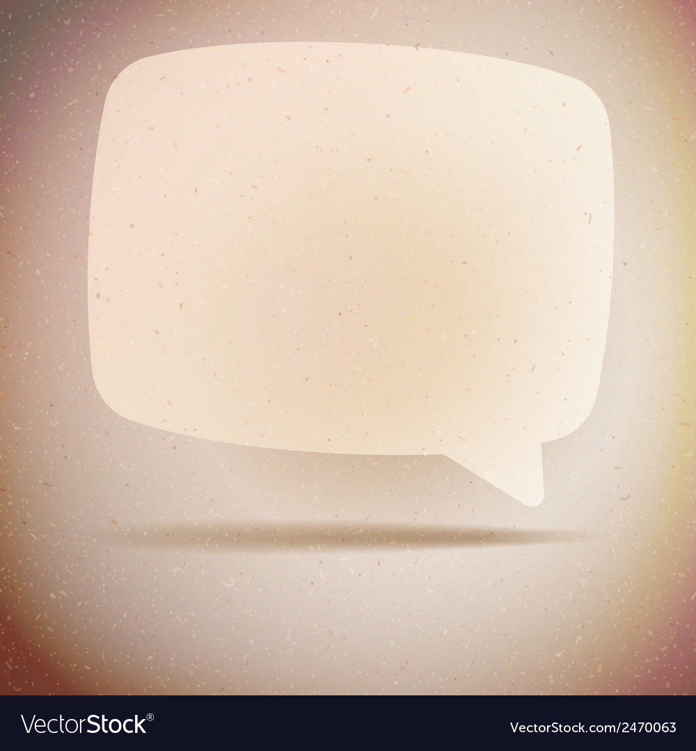 Speech bubble on vintage background eps10 vector