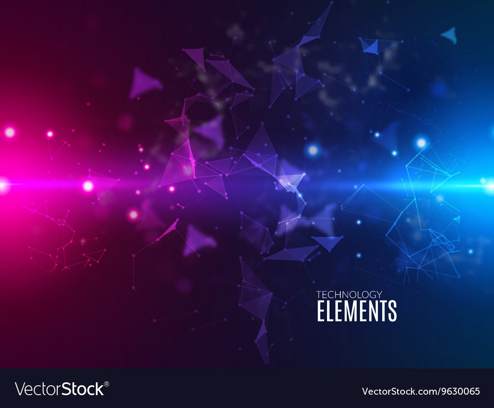 Abstract polygonal techno background futuristic vector