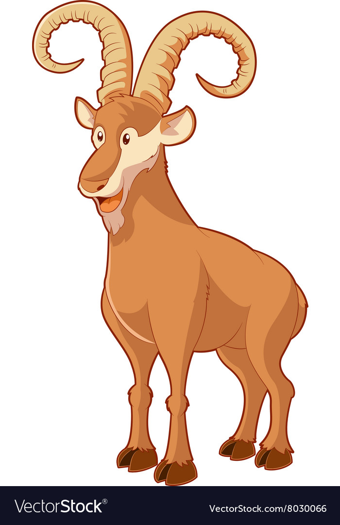 Cartoon smiling goat vector