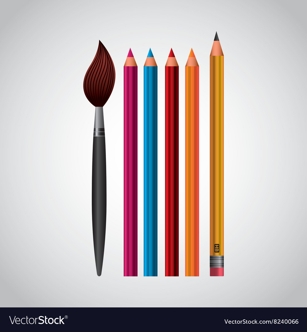 School supplies design vector