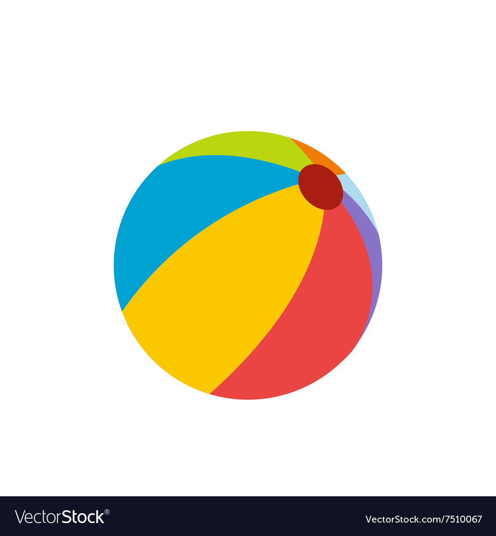 Beach ball flat icon vector