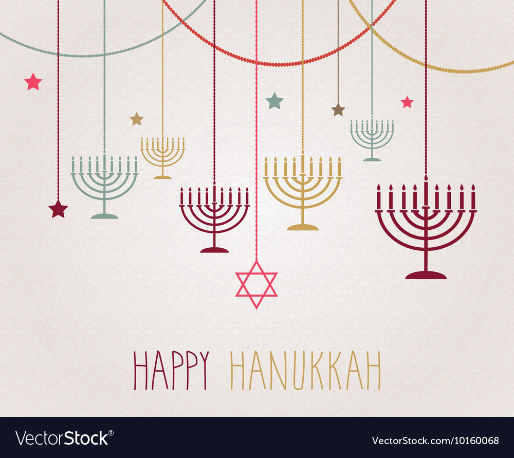 Hannukah design vector