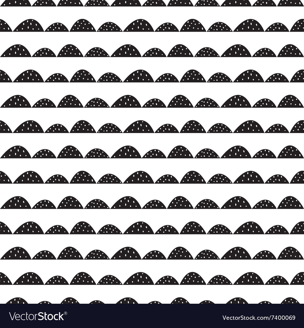 Scandinavian black and white pattern in vector
