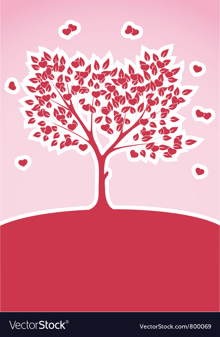 Tree of love abstract background vector