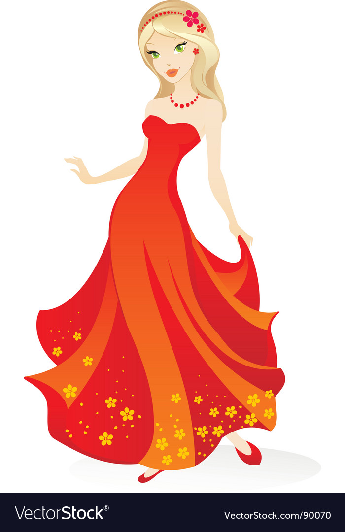 Evening wear vector