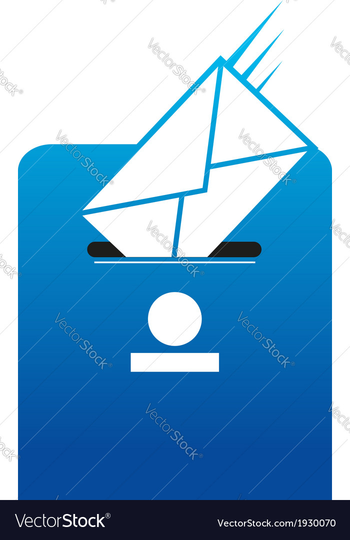 Snail mail correspondence vector