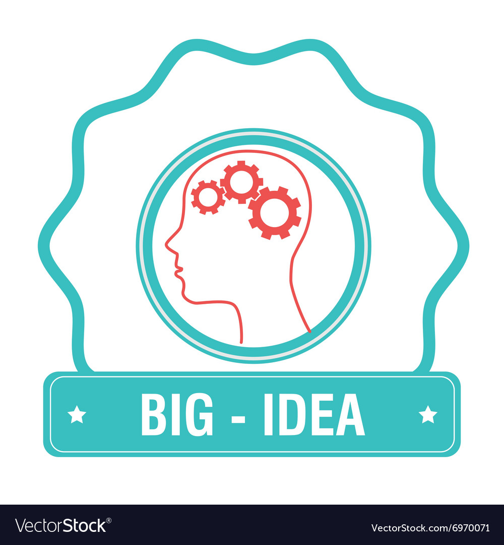Big idea icon vector