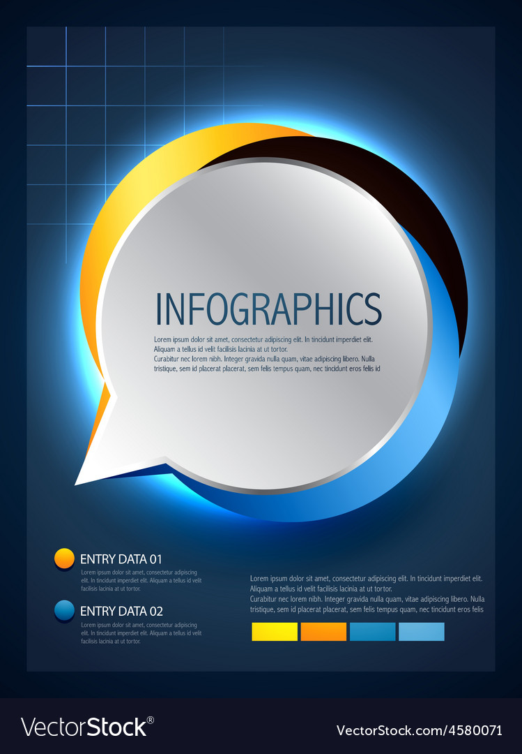 Infographic design of speech bubble vector