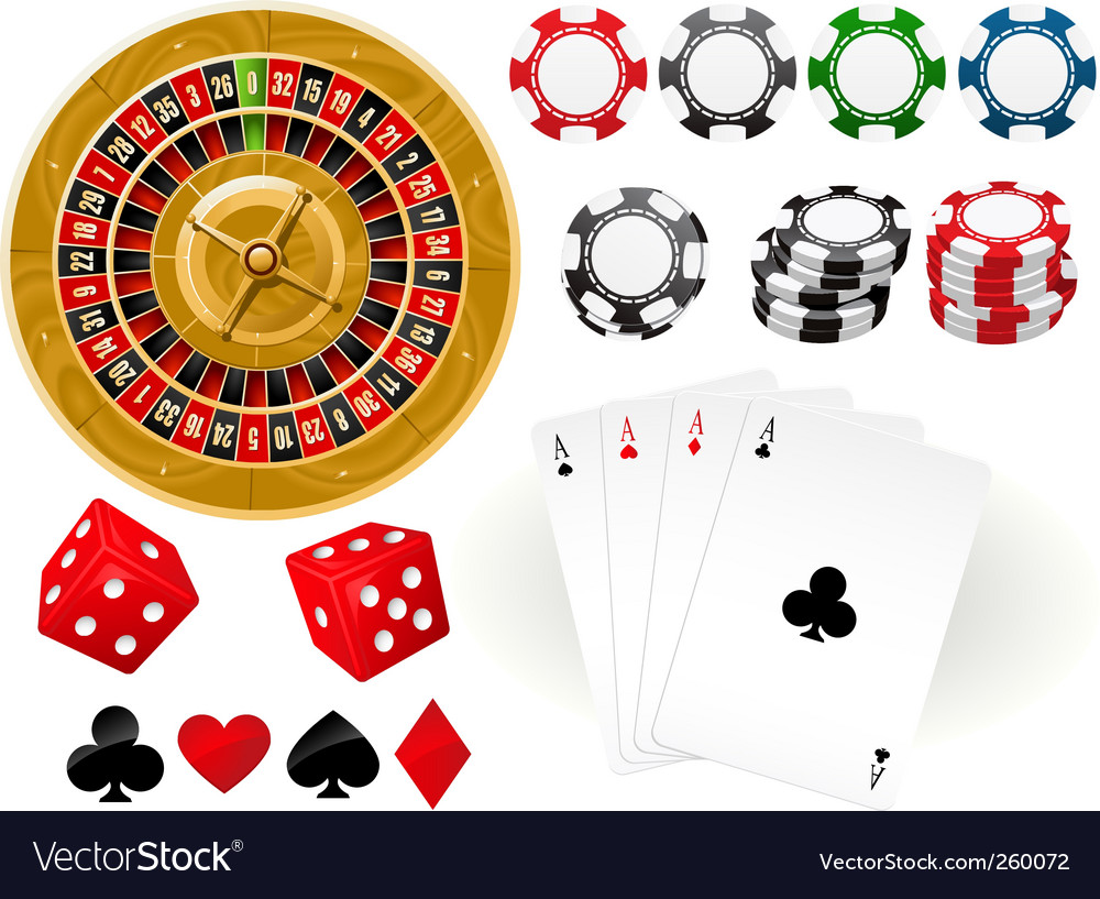 Gambling goodies vector