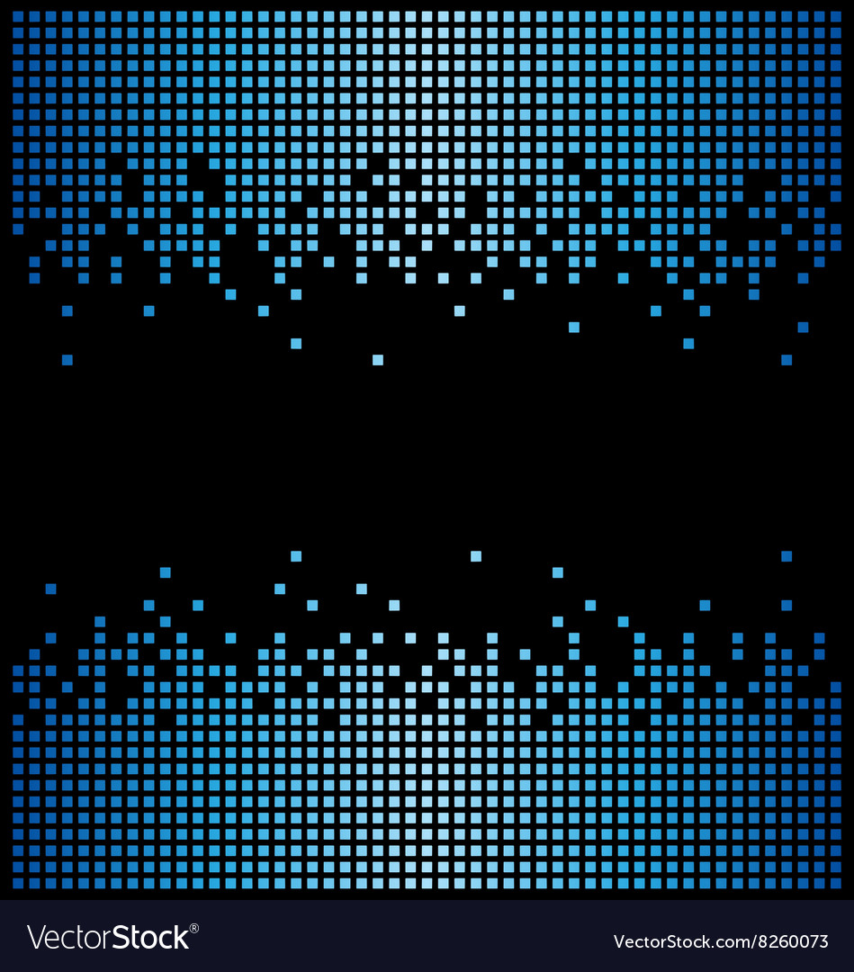 Blue pixel background and black copy space vector